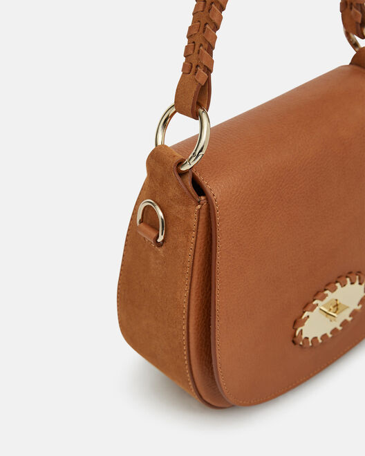 TWO-WAY BAG - TRIFINE, LEATHER